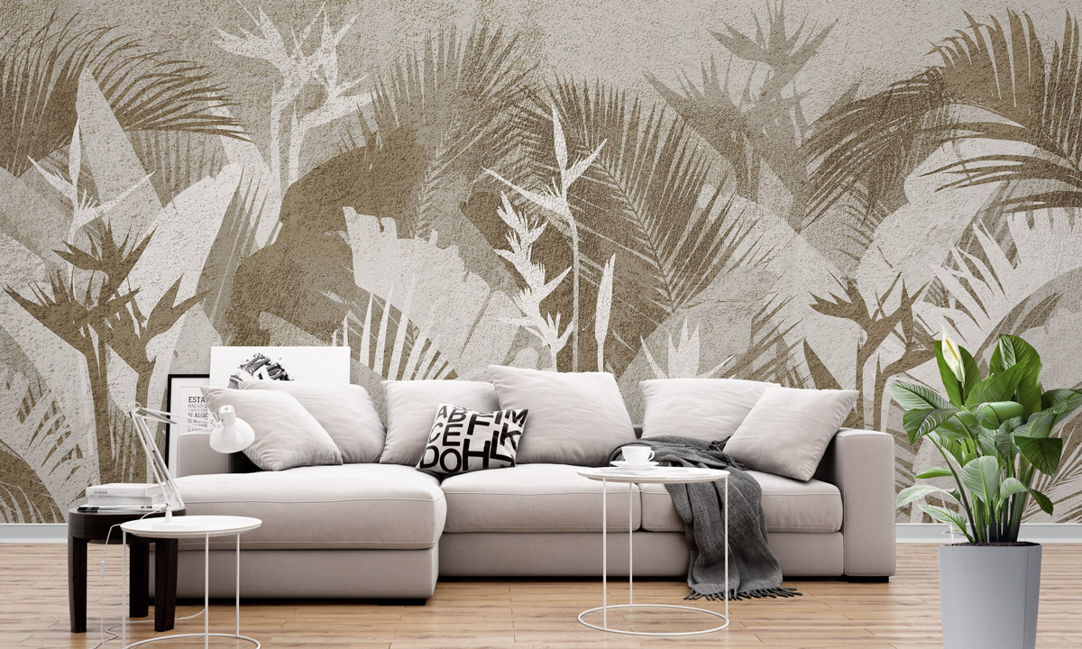 «Tropical leaves» wall mural | Modern Premium Design