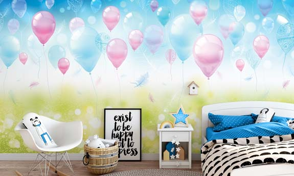 «Holiday Bubbles» wall mural | Modern Premium Design