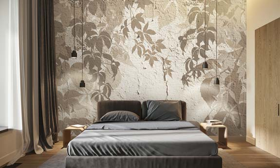 «Wildgrape Shadow» wall mural | Modern Premium Design