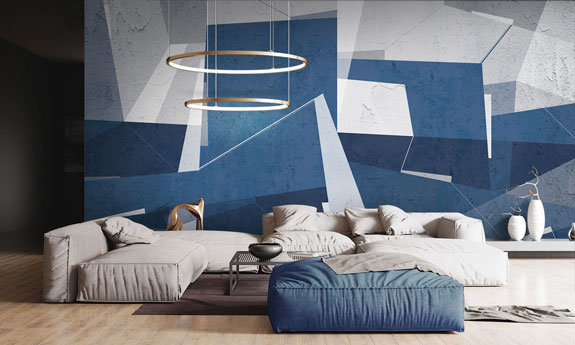 «Interior geometry» wall mural | Modern Premium Design