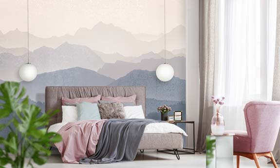 «Mountain Sunrise» wall mural | Modern Premium Design