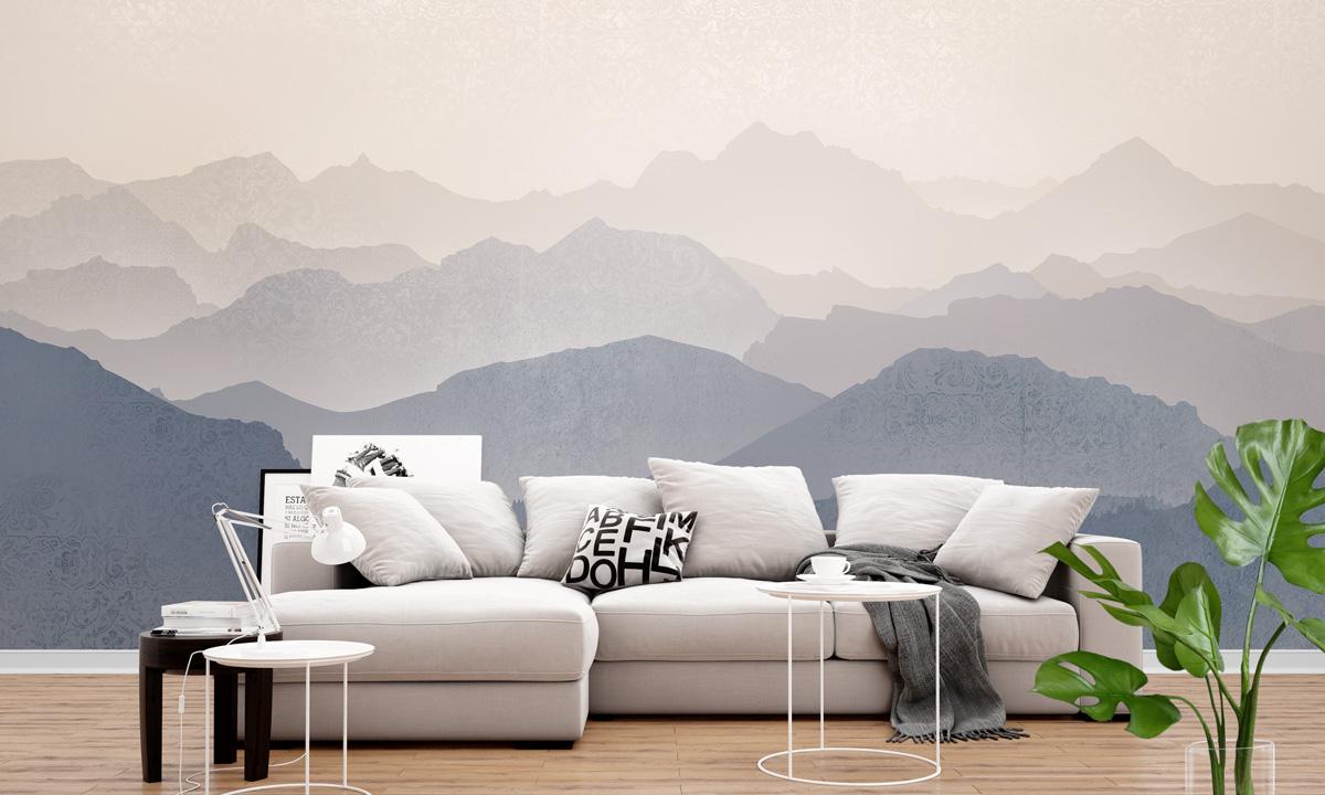 Mountain Sunrise Wall Mural Modern Premium Design