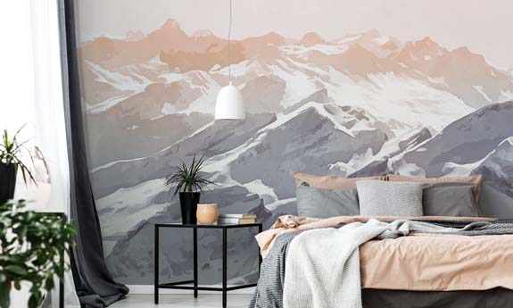 «Watercolor Mountains» wall mural | Modern Premium Design