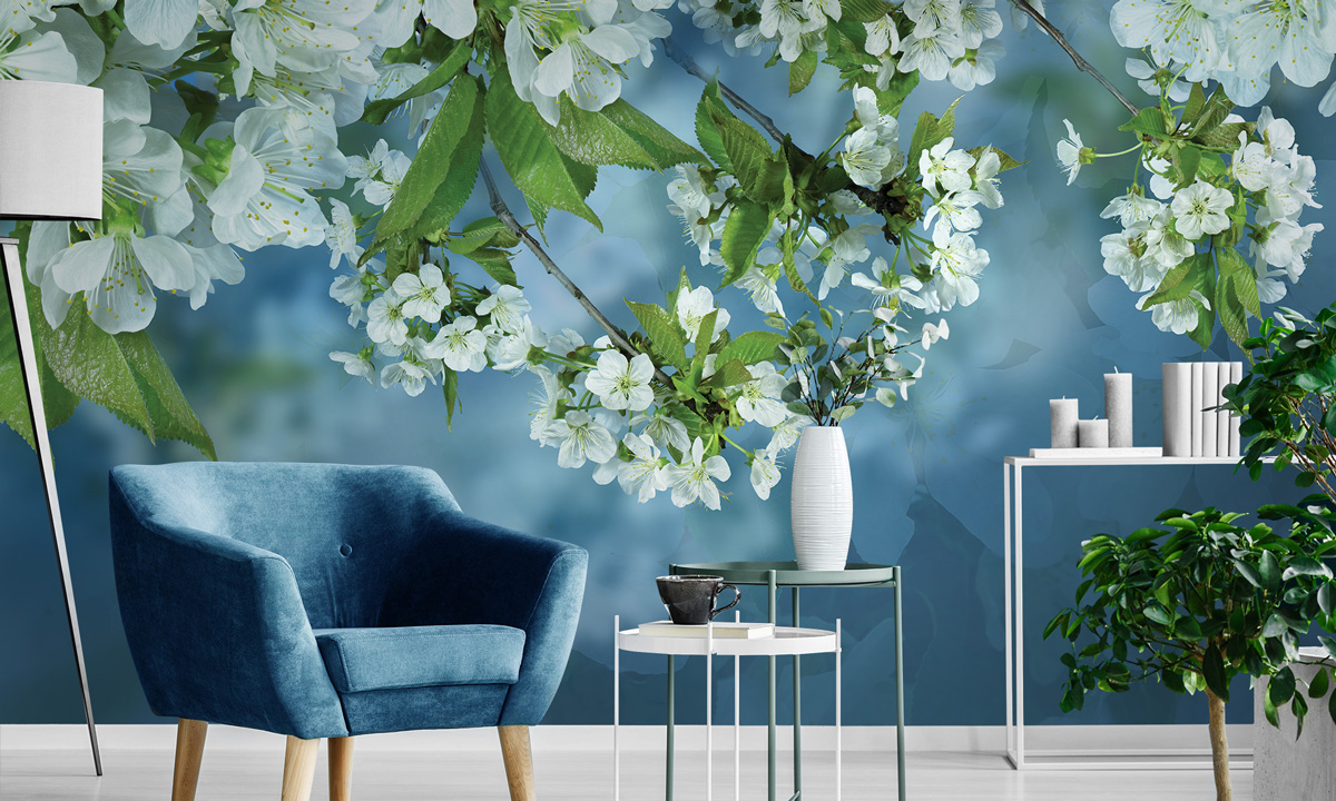 «Apple blossom» wall mural | Modern Premium Design